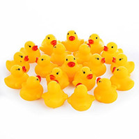 Wholesale kids beach toys set - Wholesale Safety Baby Bath Water Toy Floating Yellow Rubber Ducks Kids Toys Cute Swimming Duck Toy Shower Beach Play Set WT001