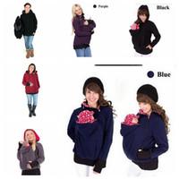 Wholesale Pregnancy Coat - Winter autumn Women Baby Carrier Jacket hoodie Maternity Outerwear for Pregnant Thickened Pregnancy Baby Wearing Coat