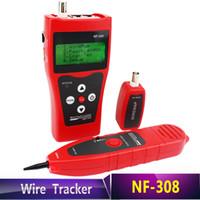 longueur du câble réseau achat en gros de-Livraison gratuite NF308 réseau multi-usages LAN câble testeur de longueur 5E 6E câble coaxial RJ45