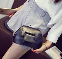 Wholesale Cell Phones Shell Shapes - Sweet Women bag Fashion new handbags High quality PU leather Chain Female bag Korea Retro Mini shell Shoulder bag hot