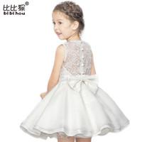 vestidos de dama de honor de ballet al por mayor-3-10 años Vestido de verano de alta calidad de encaje de ballet vestido de baile Vestido de dama de honor de niña vestido de princesa vestido de las muchachas del cabrito del partido