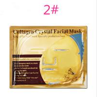 biyolojik nemlendirici kollajen maske toptan satış-DHL ücretsiz Altın Bio Kollajen Yüz Maskesi Yüz Maskesi Kristal Altın Tozu Kollajen Yüz Maskesi Levhalar Nemlendirici Güzellik Cilt Bakım Ürünleri