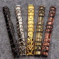diy günlük defteri toptan satış-DIY dergisi dizüstü halka mekanik, 6 halka mekanizması, A4 B5 A5 A6 A7 binder klip altın gümüş bronz siyah