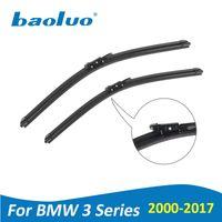 Wholesale Bmw Series Accessories - BAOLUO Wiper Blades For BMW 3 Series E46 E90 E91 E92 E93 F30 F31 F34 2000-2017 Soft Natural Rubber Windshield Car Accessories