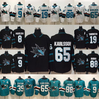 65 Erik Karlsson San Jose Sharks Third 3rd Alternate Joe Thornton Brent  Burns Joe Pavelski Logan Couture Evander Kane Couture Hockey Jerseys 93c9a6e5e