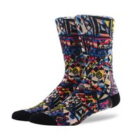 ingrosso moda mens calzini colorati-Calzini da uomo lunghi in cotone pettinato moda PEONFLY set coloratissimi e divertenti calze da sposa da uomo