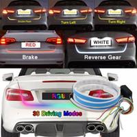 auto drehen licht signalleuchte großhandel-Farben-Fluss-Art LED-Auto-Heckklappen-Licht-Streifen-Bremse, die Blinker-Lampe fährt