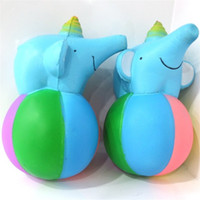 Wholesale Wholesale Elephant Plastic Toys - PU Slow Rebound Elephant Squishy Decompression Toys Squishies Animal Shape Anti Stress Toy Kid Gift 11 5ge W