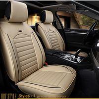Wholesale Universal Leather Car Seat Covers - Car Seat Covers Universal PU Leather Auto Front back Seat Covers for Hyundai solaris ix35 i30 ix25 Elantra accent tucson Sonata Seat Cushion