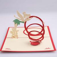 dekorationen für hochzeitseinladungen großhandel-Magic Fairy Grußkarte Ausgehöhlte Design Stereo 3D Einladungskarten Exquisite Valentinstag Hochzeit Dekorationen Supplies 3 7hd B