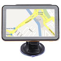 Wholesale united radio - 5 inch Windows CE 6.0 Vehicle GPS Navigation TFT LCD Touch Screen FM Radio Voice Guidance Multi-function Navigator Maps