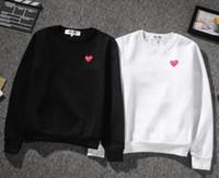 Wholesale Sportwear For Women - yee designer red heart hoodies for men women crewneck sweatshirt sweats Harajuku sportwear streetwear cdg play hoodie mens hip hop hoodies