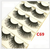 Wholesale Big False Eye Lashes - 26 Styles 100% Human Hair Eye lashes Red Cherry False eyelashes Natural Long makeup Big Eyes Eyelash Free DHL 5 pairs pack