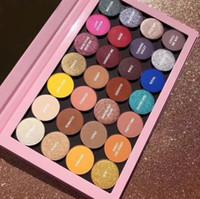 metalik toz toptan satış-Sıcak Markalı Yeni Kozmetik KY 28 renk göz farı paleti mat metalik ve saten Preslenmiş toz paleti hediye