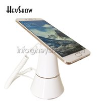 Wholesale cell phone security display holder resale online - 10x Cell mobile phone security display stand iphone alarm holder andriod phone anti theft for smart phone retail Apple store