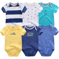 bebe bodysuit toptan satış-2018 Yeni Bebek Setleri Giysileri Yeni Doğan Bodysuit Roupas Bebe Kız Erkek Kostüm Bebek Çocuk Giyim Seti