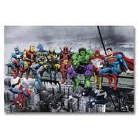 Wholesale abstract silk art for sale - Group buy A348 Superheros Marvel DC Comics SKYSCRAPER Top A4 Art Silk Poster Light Canvas Painting Print Home Decor Room Wall Picture