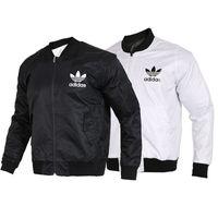 ingrosso maschio xl-Giacche di design per uomo fashion style giacca a vento autunno cappotto manica lunga casual giacche uomo colore bianco nero taglia S-2XL