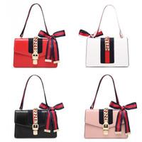 decorar bolsas venda por atacado-Hot Moda Feminina Bolsas Bow Decorate Ombro Cadeia Sacos Tote Bolsas De Couro PU Estilo College Party Bag