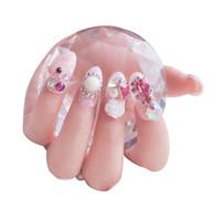 nagelspitze künstlicher fingernagel großhandel-AF54 Nagelspitzen falscher Nagel 3d verzierte künstliche Fingernägel vor geklebter falscher Nagel