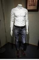 imagens de high fashion dress shirt venda por atacado-Camisa dos homens reais pictur Moda de Luxo Camisas Dos Homens de Manga Longa Homens Camisas de Vestido homem camisa de Algodão Camisa Slim Fit polo de Alta qualidade Chemise Homme