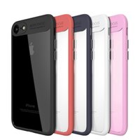 Wholesale Soft Focus - For iPhone X Case Soft Silicon TPU Edge Auto Focus Transparent Clear Hard PC Armor Back Cover For iPhonex 8 7 Case iPhone 10 Case