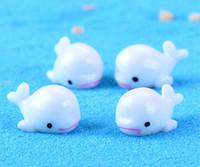 Wholesale Whale Accessories - Mini Garden Accessories Artificial Whale Garden Decorations Micro Landscape moss Bonsai Figurines Plants Miniature Crafts Cute ornament BJ05