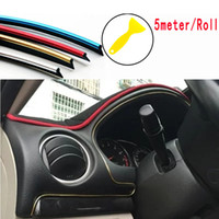 Wholesale Ford Styling Accessories - 5Meter 1Roll Car Flexible Interior Moulding Decorative Strip Trim Line Car Styling Sticker Accessories