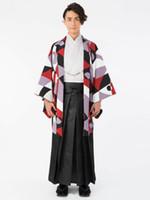 vestidos de casamento japoneses venda por atacado-Terno de quimono japonês masculino e tecido de penas de casamento quimono vestido conjunto completo
