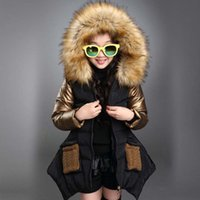 mignons longs manteaux achat en gros de-Vêtements de filles enfants hiver à capuchon coton épaississant veste enfants vêtements long style manteau enfant chaudement veste filles tops 3-13Y