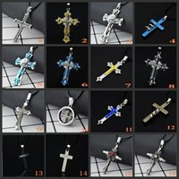 Wholesale boys cross necklace chain resale online - Whole Sale Cross Pendant Necklace cm chain Titanium Fashion Accessories Statement Jewelry Best Gift For Boy