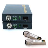 receptor de transmissor de vídeo hd venda por atacado-JYTTEK HD 3G SDI aos dados audio video 10KM do receptor RS485 do transmissor do conversor da fibra do LC