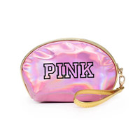 Wholesale leather bags hot pink for sale - PINK Laser Cosmetic Bag Waterproof Makeup Bags Women Laser Flash Diamond Leather Bags Kids Purse Hot Selling Items