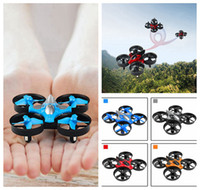 Wholesale Ufo Aircraft Toy - 2.4G Mini UFO Remote Control Aircrafts Four Axis Onekey Return Headless Mode Toys For Kids DDA194