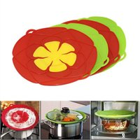 Wholesale Boiling Pan - Flower Cookware Parts 28cm Silicone Boil Over Spill Lid Stopper Oven Safe For Pot Pan Cover Cooking Tools OOA4074