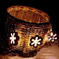 luzes feericamente da caixa de bateria venda por atacado-Nórdico 10 LED de Madeira Arte Ameixa Flor Luz Corda Fada Lâmpada Da Bateria de Férias Decoração do Quarto de Natal Festa de Casamento Romântico