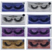 ingrosso 15 estensioni dei capelli-15 Stili 3D Visone Ciglia Spesse Ciglia di Visone Ciglia finte naturali per Estensioni di trucco Bellezza Ciglia finte Ciglia finte CCA8503 200 pezzi