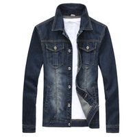 Wholesale college denim jacket for sale - Group buy 2017 Denim Jacket Men College Outwear Jeans Jacket And Coats Korean Style M xl Ayg114