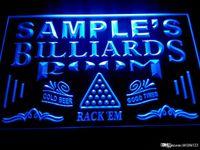 Wholesale billiards signs - DZ011-b Name Personalized Custom Billiards Pool Bar Room Neon Sign
