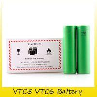 kullanılan mods toptan satış-En Kaliteli VTC6 VTC5 Pil 3000 mAh 2600 mAh 3.7 V 30A Ecig Kutusu Mods için Kullanarak Li-Ion 18650 Şarj Edilebilir Piller