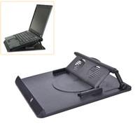 drehbarer schreibtisch großhandel-JETTING Laptop Halter Kühlung 360 Grad-umdrehung Stand Mount Notebook Tisch Schreibtisch Swivel