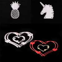 Wholesale metal fan feng shui for sale - Group buy Unicorn Cutting Dies Christmas Metal Silver Knife Die For DIY Stencil Lovely Embossing Home Furnishing Decorative Hot Sale sx Y