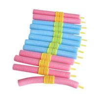 rolinhos flexíveis venda por atacado-Brand new 12 pcs anion espuma macia ferramenta de cabelo bendy rolos de cabelo rolos curlers agarre frete grátis