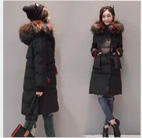Wholesale Korean Down Coat Women - Large size XL-5XL cotton female fat mm2017 new Korean fashion temperament was thin thick colorful collar cotton coat 200 kg women's clothing