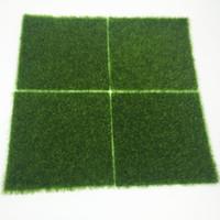 gras teppich rasen großhandel-Earth Day 15pcs Grass Mat Green Kunstrasen 15x15cm Kleine Rasenteppiche Fake Sod Hausgarten Moosboden Hochzeitsdekoration