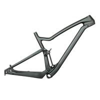 bicicleta transversal do carbono venda por atacado-nova 29er quadro de suspensão total de carbono para xc cross country suspensão total mountain bike carbono fs029