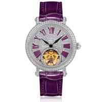 механические механические часы с маховиком оптовых-Butterfly Flywheel Automatic Mechanical Watch Female Full Diamond Woman Dress Watches Top  Ladies Fashion Watch Waterproof