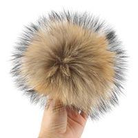 ingrosso nomi dei colori d'autunno-16-17 cm Real Raccoon Fur Pompom Beanie Fur Natural Accessori Scarpe Visone Fox Ball Inverno Pom Poms Per Bag Hat Key 11 Colori