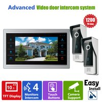 Wholesale video entry phones for sale - Group buy Homefong inch HD Door Phone Video Doorbell System with Camera Wired Video TVL V1 Home Apartment Entry Kit