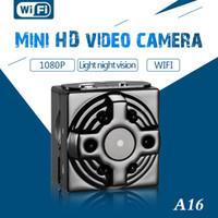 redes de vídeo venda por atacado-New Original HD 4 K 1080 P A16 Wi-fi Câmera de Rede Mini Câmera de Vídeo Wifi Luz Night Vision Suporte 128G TF Cartão Mini DVR